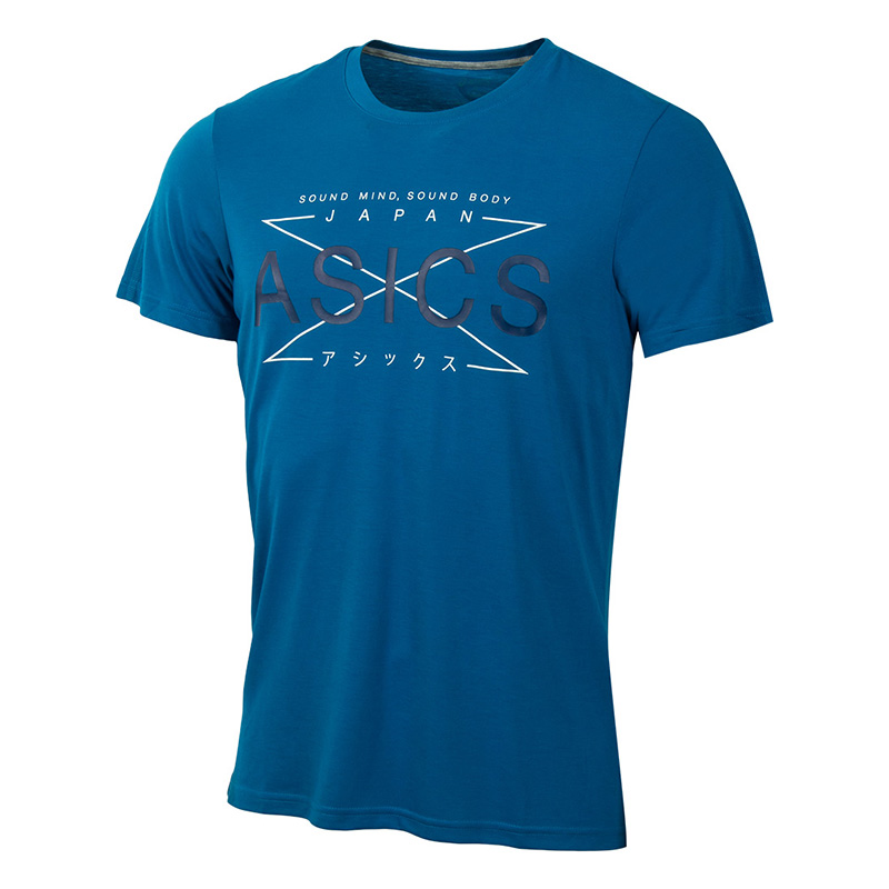 T-Shirt ASICS 141816-8154 sports and entertainment for men sport clothes available from 10 11 asics running t shirt 141240 1107