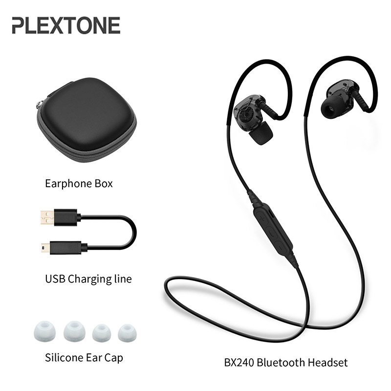 100% Original PLEXTONE BX240 Wireless Bluetooth Earphone IPX5 Waterproof Sport Stereo With Mic for iPhone Samsung Xiaomi Huawei цена