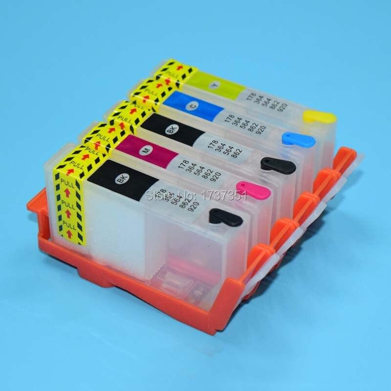 цена  For HP 178 refill ink cartridge with ARC chip for HP Photosmart C5380 C6380 D5460 C309a C309g C309c printer 5 color  онлайн в 2017 году