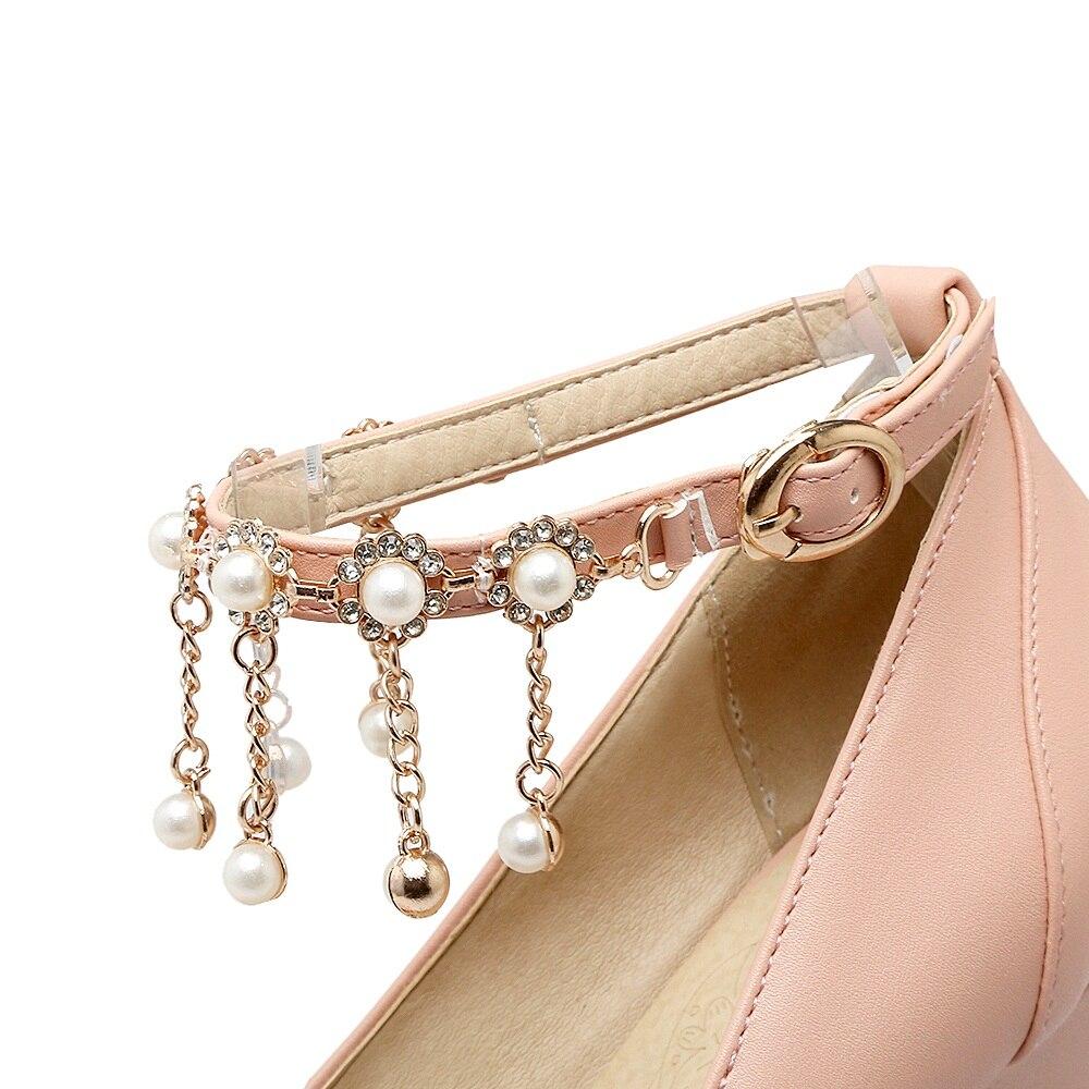 pompe grandi giallo rosa 31 bianco Asumer eleganti superficiale scarpe calda 2018 alti dimensioni piattaforma donna vendita nozze tacchi fibbia 48 gABOqPHg