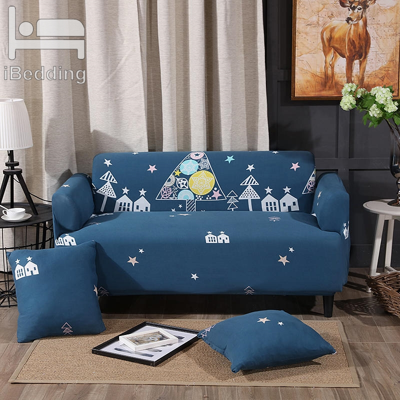 Cartoon Night Star House Elastic Sofa Protector Cover for