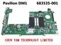 Original 683535-001 para hp pavilion dm1 dm1-4000 laptop motherboard danm9gmb6c0 rev: c mainboard 100% probado garantía de 90 días