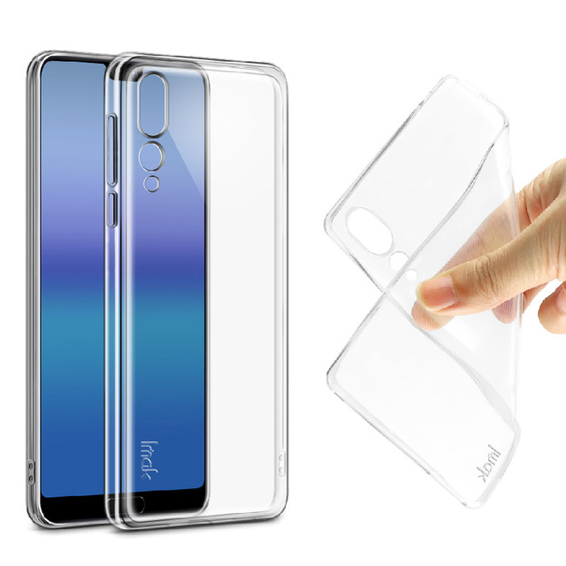 on sale 85204 6405f US $2.55 15% OFF|For Huawei P20 Pro Case Imak Back Case Cover Clear  Transparent Soft TPU Silicone Case Cover For Huawei P20 Lite/Nova 3e-in  Fitted ...