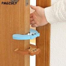 Proteção de silicone para crianças, portas de silicone 5 pçs/lote rolha porta decorativa cuidados de segurança do bebê desenho animado animal jammer criança