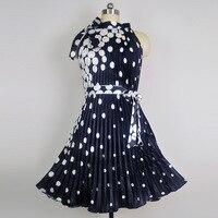 YSMARKET Women Summer Sleeveless Print Evening Mini Dresses Nightclub Sundress Bow Vintage Pleated Chiffon Dress Plus