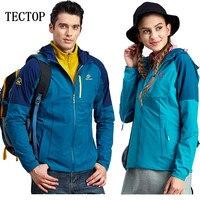 Tectop Outdoor Men Women Elasticity Quick Drying Jackets Windproof Waterproof Lightweight Breathable Camping Coat With Hat