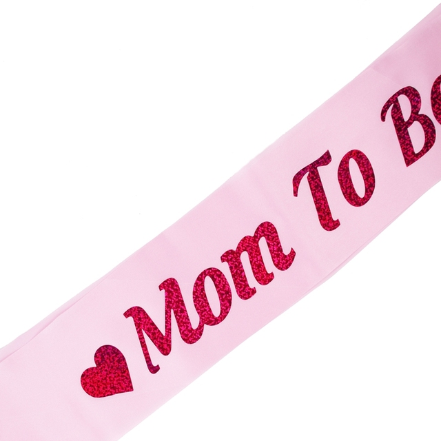FENGRISE Baby Shower Satin Ribbon Mummy To Be Sashes Pink Shoulder Strap New Mom Party Gift Favors New Designs Decorative Crafts