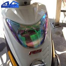 새로운 30cm * 60cm 카멜레온 자동차 오토바이 스쿠터 라이트 오토바이 라이트 헤드 라이트 테일 리어 램프 색조 필름 스티커