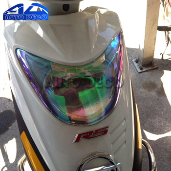 Nowy 30cm * 60cm kameleon samochodów motocykl skuter światła motocykl światła reflektor tylna lampa odcień odcień naklejka foliowa