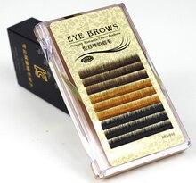0.10 mm J Curl Individual Mix Color False Mink Eyebrow Extensions Permanent Eyebrow