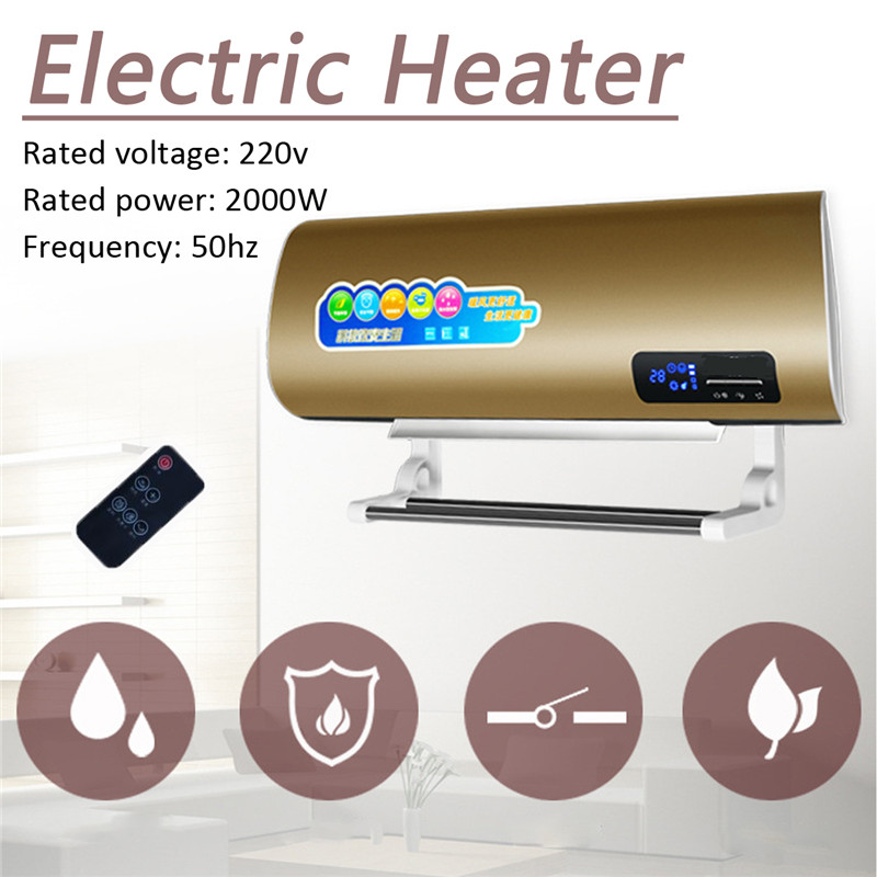 220V 2000W Electric Heater Household Wall Mounted Hang Warmer & Cooler Motorhome Heater Machine Energy Home Heaters small solar heater silent electric household energy saving oven province electrical heater s students