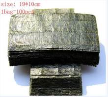 Algues Sushi Nori demi-coupe, qualité AAA, vert foncé, cuisson secondaire, 100 pièces = 50 pièces * 2