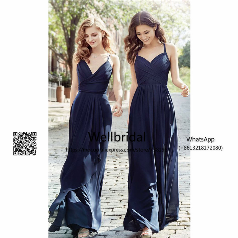 Spring 2017 Simple Bridesmaid Dresses Long Wedding Party