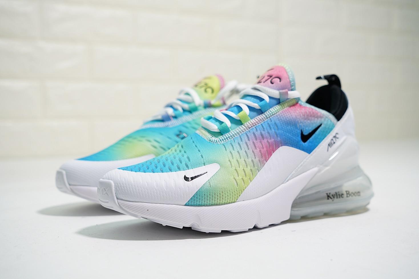 Nike Air Max 270 White Rainbow Multi Color Sneakers AH6789