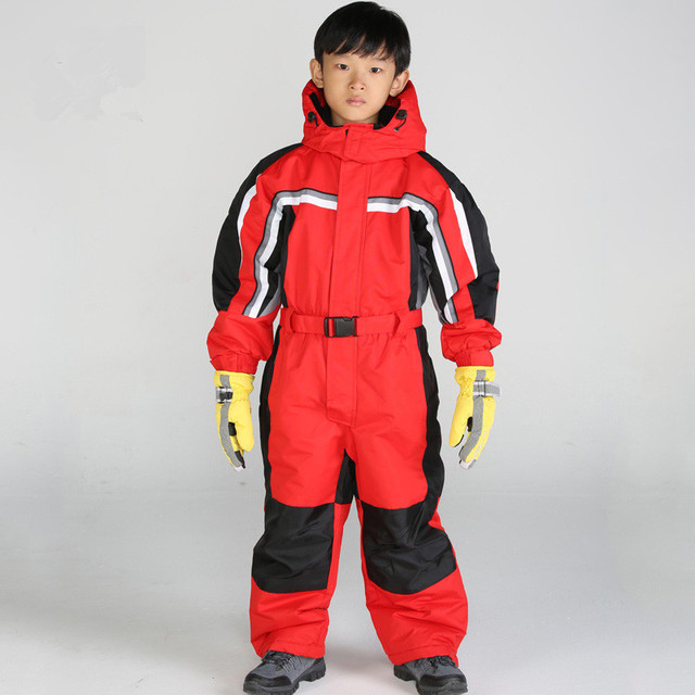 Aliexpress Com Buy Boys One Piece Ski Suits Boy