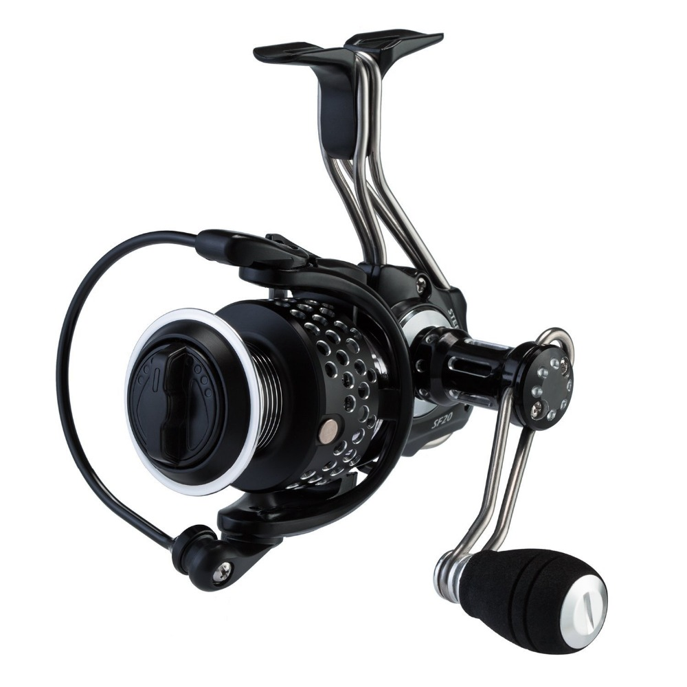 HiUmi Steel Feeling Spinning Fishing Reel Full Metal Body with Carbon Fiber Drag CNC Machined Aluminum Spin Reels trulinoya full metal body baitcasting reel 7 0 1 10bb carbon fiber double brake bait casting fishing reel max drag 7kg