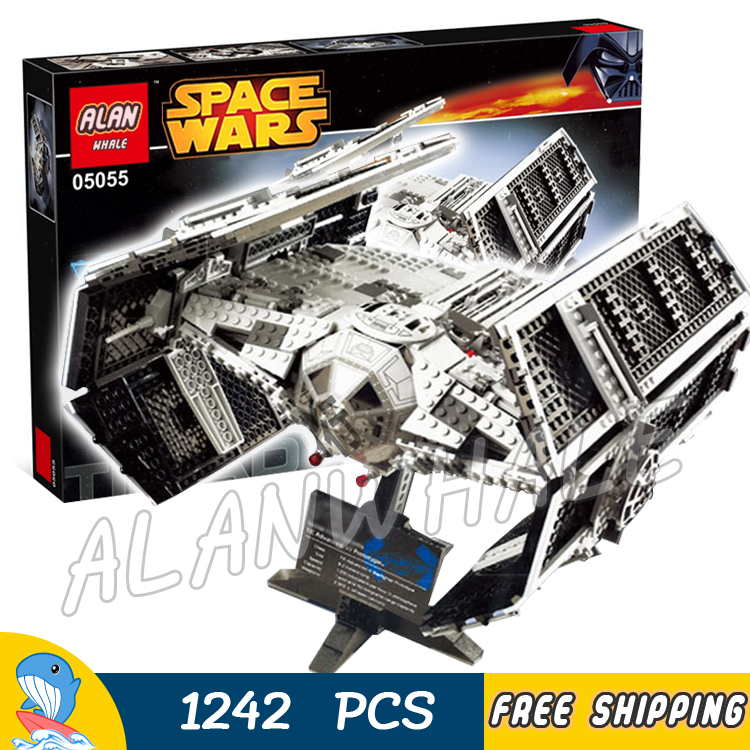1242pcs Space Wars Vader's TIE Advanced Starfighter 05055 Model Building Blocks Toys Bricks Games Compatible With Lego 2017 new 1242pcs 05055 lepin star wars vader s tie advanced fighter model building kit figures blocks brick toy compatible 10175