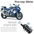 2 vías sistema de seguridad de alarma de la motocicleta moto scooter de moto arranque del motor sin llave anti-robo de alarma de dos vías sensor de vibración