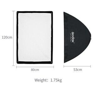 Image 3 - Godox SB UE 80x120 cm/31 * 47 Retangular Portátil Guarda chuva Softbox com Bowens Monte Carry saco para Flash de Estúdio