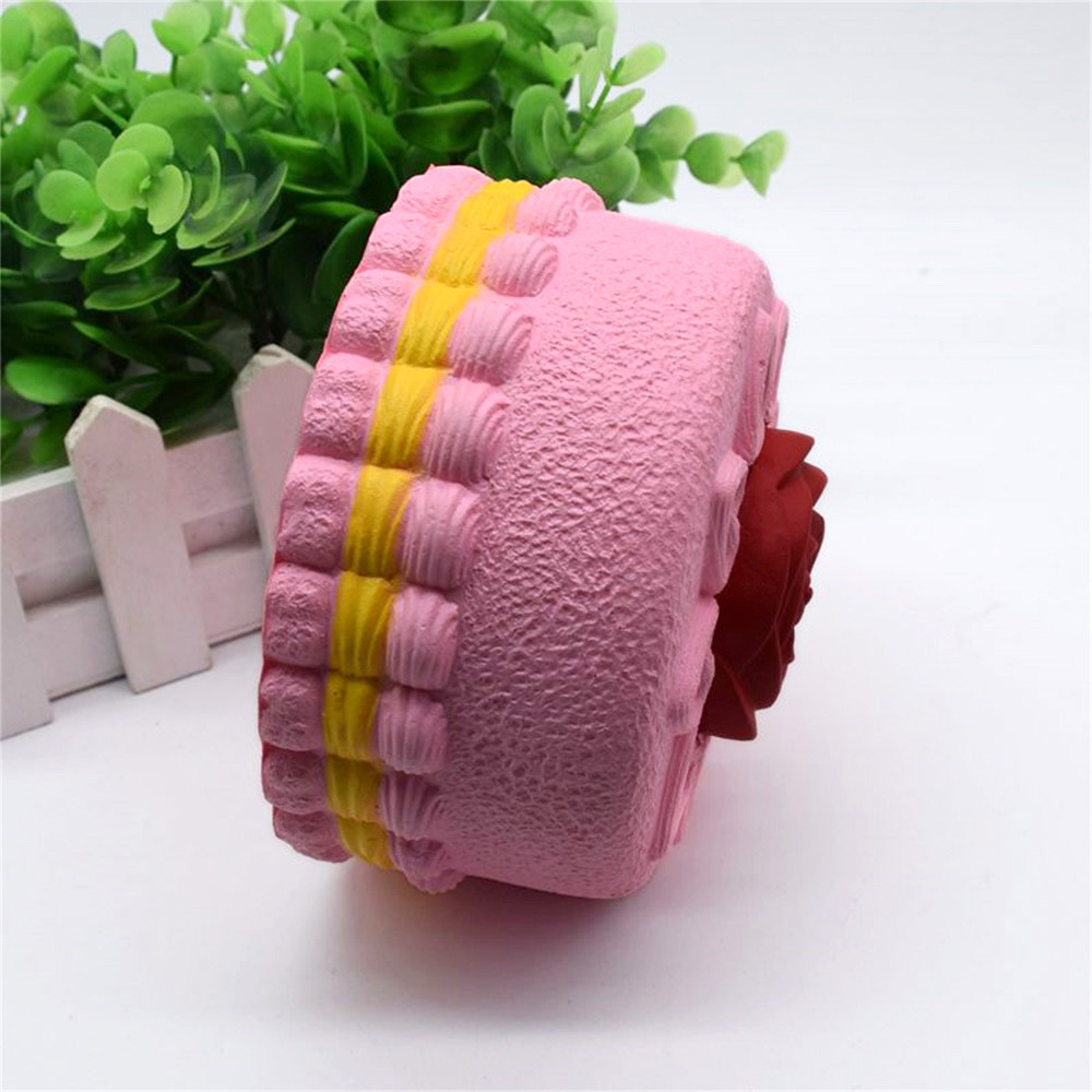 Novelty Toys Stress Squishy Rose Cake Squeeze Slow Rising Squeeze Collection Cure Toy Gift Stress Ball Squee birthday present
