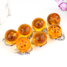 2.5cm Dragon Ball Z New In Bag 7 Stars Crystal Balls PVC Figures Toys Keychain Pendant 1 2 3 4 5 6 7 star Complete set