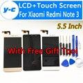 Для Xiaomi Redmi Note 3 Pro LCD + Сенсорный Дигитайзер Стеклянная Панель Ассамблея Экран Для Xiaomi Redmi Note 3 Prime FHD 5.5 дюймов