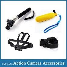 Gopro Accessories Monopod Float Bobber Chest Belt Set For Go pro Hero 4 Session 3 SJCAM SJ4000 wifi SJ5000 Plus Xiao yi Camera