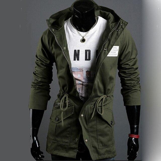 b22be1a87621 Summer Jacket Men 2015 Brand Cotton Long Jacket Men Hooded Fashion Casual  Plus Size Winter Jackets