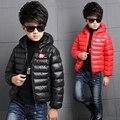 2016 niños bebés ropa casual infantil ropa infantil de invierno chaqueta de la capa caliente de la chaqueta wadded niños de algodón acolchado espesar outwear