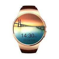 Original KW18 Bluetooth inteligente assistir em tela cheia Apoio TF SIM Freqüência Cardíaca Telefone Smartwatch para apple engrenagem s2 cartão huawei Androi