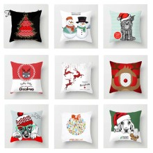 Fuwatacchi Cute Cartoon Cushion Cover Xmas Deer  Soft Throw Pillow Decorative Sofa Case Pillowcase