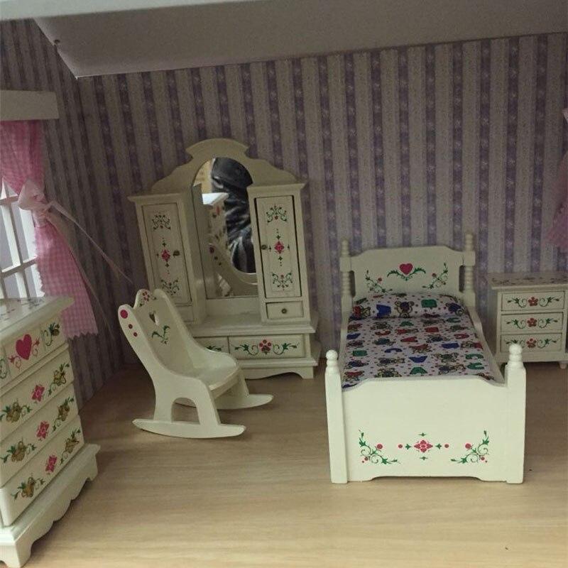 Dolls House 2 WALNUT CASSE DA COMODINO ARMADIO MOBILI IN MINIATURA 1:12 camera da letto