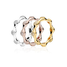 Women 925 Sterling Silver Ring 3 Color Rose Gold Silver Round Fashion Ring Simple Design For Women Jewelry недорого