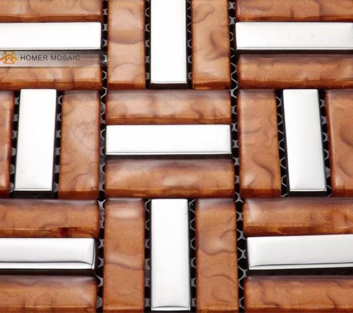 Compra naranja mosaico de azulejos online al por mayor de china ...