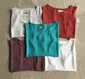 2016 mujeres del verano de lino del algodón tanques y camis, cómodo del ocio de la muchacha de lino del algodón remata camisetas, más el tamaño de ropa wmen S - 5XL 6XL