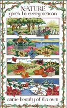 four season field scenery ,Counted Cross Stitch 14CT Cross Stitch Sets Wholesale cartoon Cross-stitch Kits Embroidery Needlework