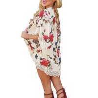 Capes For Swimsuit Beach Cover Up 2018 Beach Outings Floral Women Swimsuit Cover Bathing Suit Cover Ups BK47159