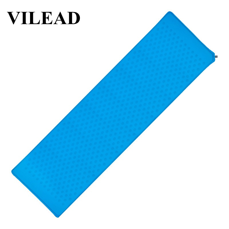 Vilead Ultralight Inflatable Camping Mat 185*52 Cm Portable Automatic Cushion Sleeping Pad Outdoor Air Bed Hiking Travel Drive