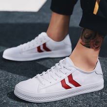 2018 New Spring/autumn  Artistic Little White Shoes Men Fashion Summer Breathable Flat Casual Mens 5