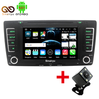 1024X600 Octa Core Android 6 0 1 Car DVD Player GPS Navigation For Skoda Octavia 2009