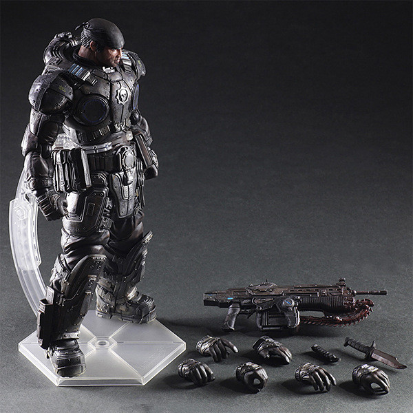 Play Arts Kai Gears of War Marcus Fenix PVC Action Figures Collectible Model Toys 27cm майка классическая printio gears of war 2