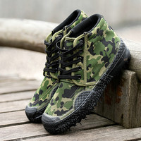 Waterproof Men Fashion High Top Military Desert Boots Male Outdoor Hiking Boots Ankle Botas Men S