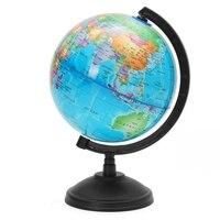 Neue LED Licht Welt Earth Globe Karte Geographie Pädagogisches Spielzeug Mit Stand Home Büro Ideal Miniaturen Geschenk Büro Gadget EU stecker-in Geographie aus Büro- und Schulmaterial bei