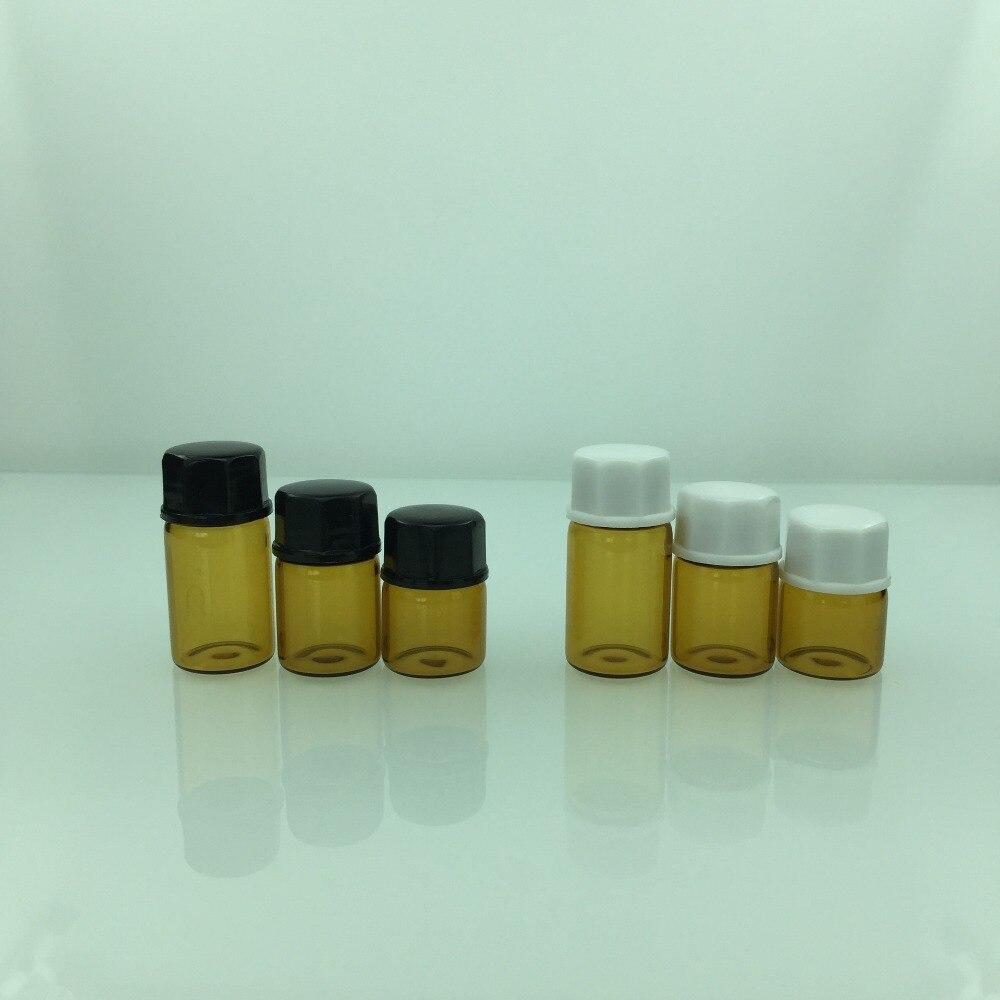 Image 3 - زجاجات الزيت العطري 1 مللي 2 مللي 3 مللي 5 مللي زجاجة عينة صغيرة من الكهرمان والزجاج الشفاف مع فتحةزجاجات التعبئةالجمال والصحة -