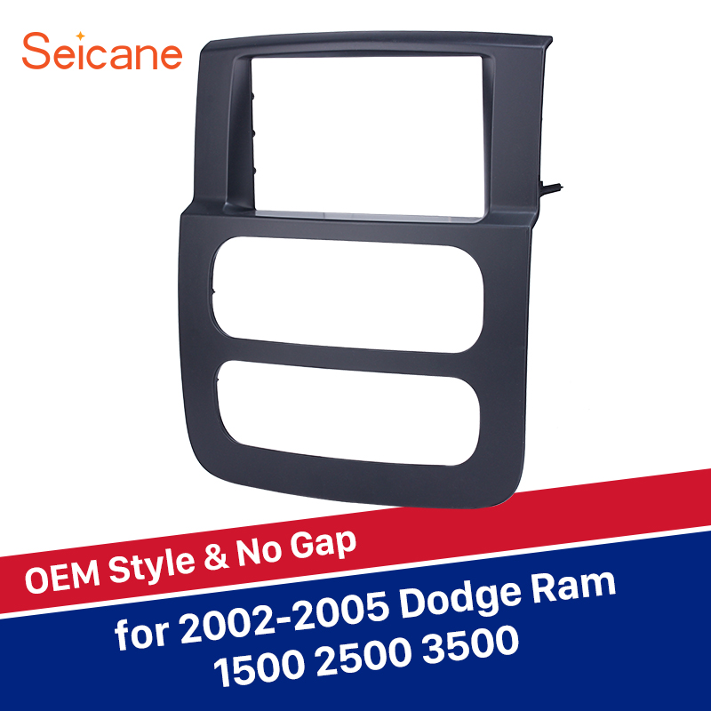 Seicane 2Din Black Car Radio Frame Install Dash Bezel Trim Kit Fascia For 2002 2003 2004