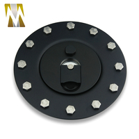 New Fuel Cell Surge Tank Cover Gas Lid Filler Cap Metal ABS with 12 bolt holes Billet Aluminum Good Quality Material