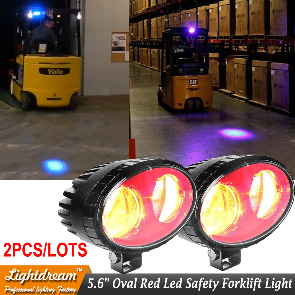 2pcs 10-80v scraper Fork Truck forklift Red Warehouse keep out zone light Red zone pedestrian light RedZone Danger Area Warning 10pcs x red blue zone forklift danger zone warning light 10 80v 18w red safety zone warning led work lamp
