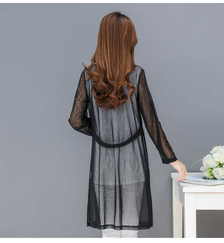 Осеннее кружевное платье длинные кимоно Mujer кардиганы Цветочная вышивка Blusas Feminina белый черный большой размер XL ~ 4XL женский кардиган