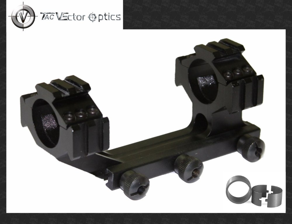 Vector Optics Tactical 30mm One Piece Cantilever Picatinny Mount with Integrated Dual Rings 1 Inch Adapter
