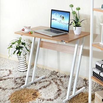 Simple desk tablestudent laptop computer desk household bookcase lazy table  modern steel wooden desk